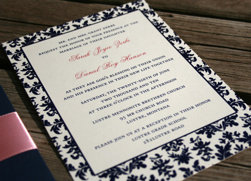 120 Water Street Wedding Invitations