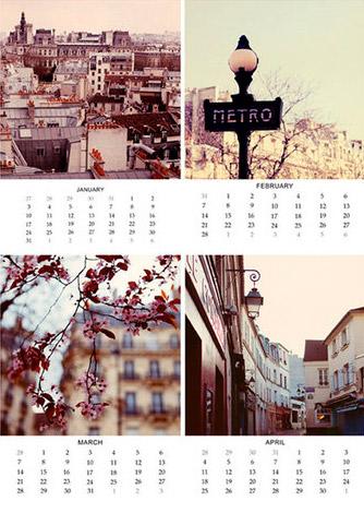 Alicia Bock Paris Love Story Calendar