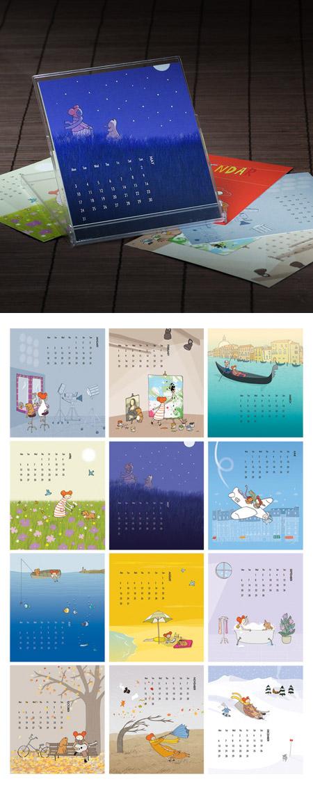 Ana Aceves Illustrated 2010 Calendar