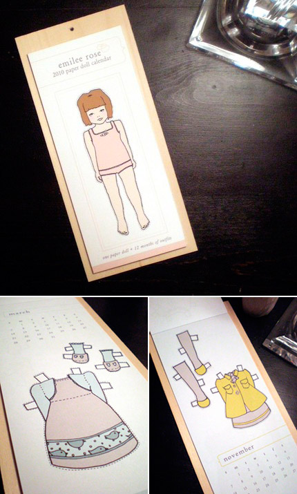Emilee Rose Paper Doll 2010 Calendar