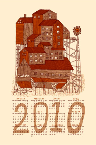 Nate Duval Screen Printed Calendar