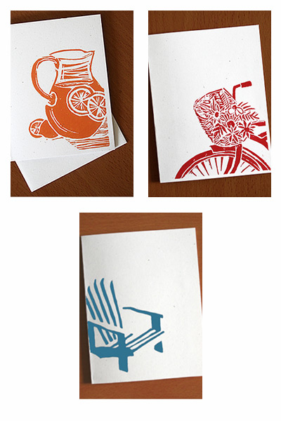 A Little Hut Linoleum Cut Illustration Cards