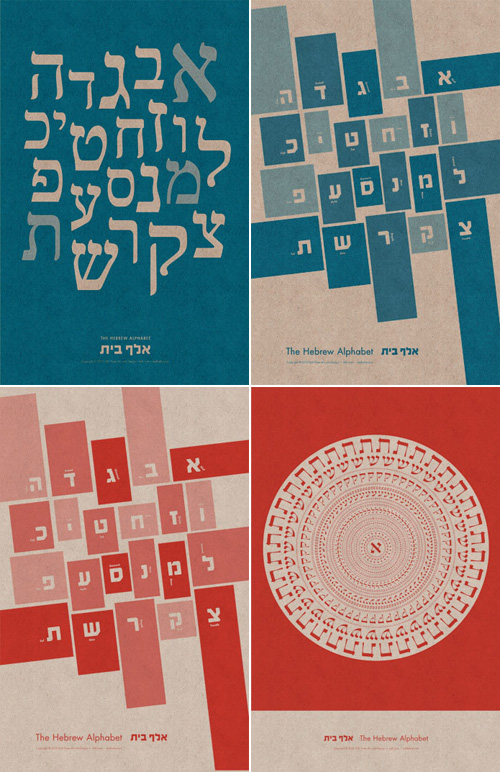 Alef Betty Hebrew Alphabet Prints