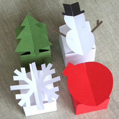 Little Hut Holiday Box Templates | Paper Crave