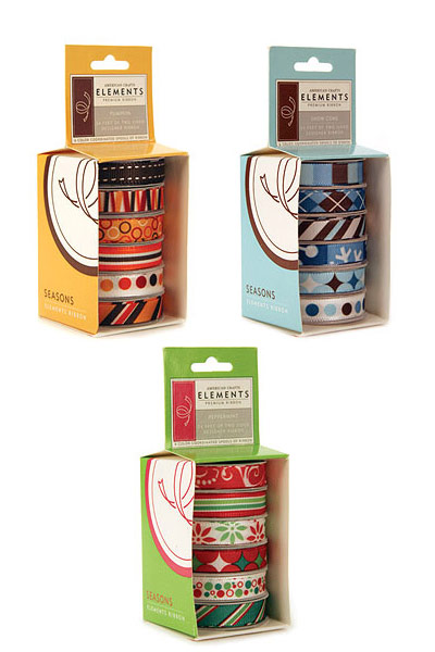 American Crafts Patterned Ribbons