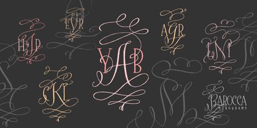 Barocca Monograms Font Tart Workshop
