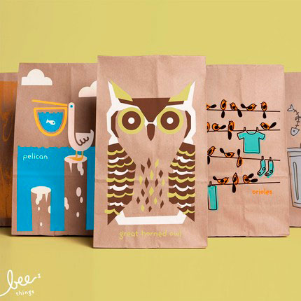Bee Things Lunch Bags