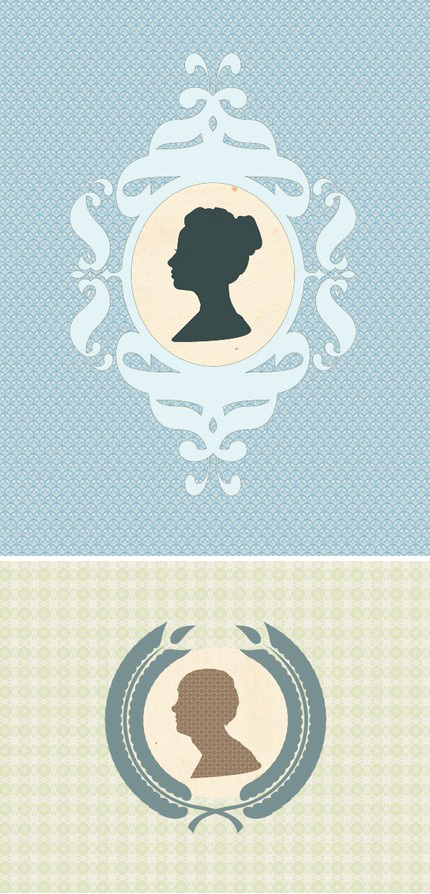 Silhouette Pattern Portraits
