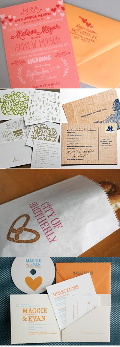 Bird & Banner Illustration Wedding Invitations