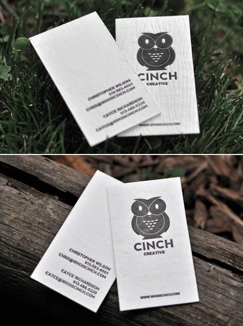 Cinch Creative Letterpress Business Cards