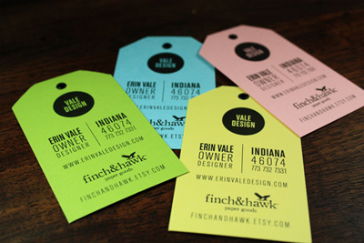 Erin Vale Business Cards