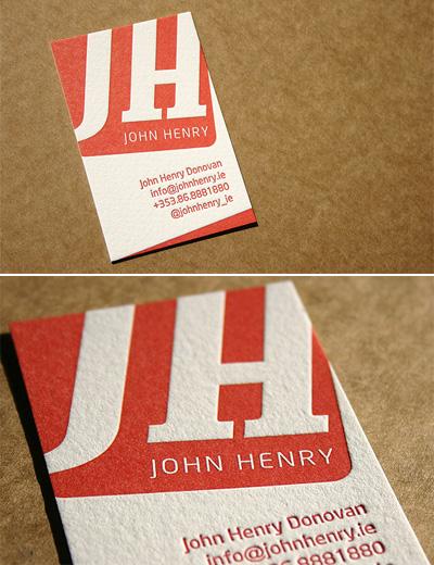 John Henry Letterpress Business Cards
