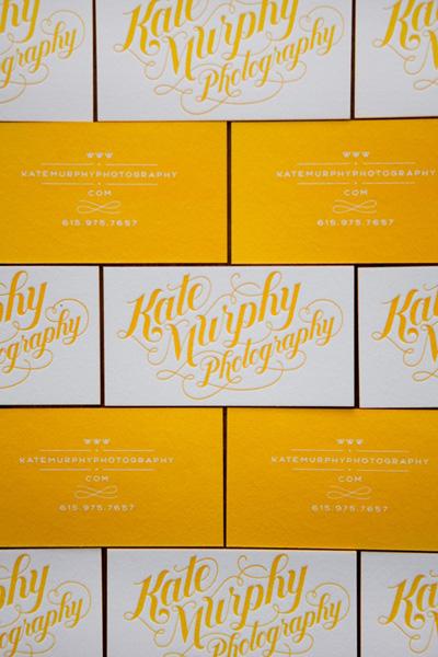 Kate Murphy Letterpress Business Cards