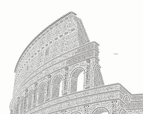 Colosseo Letterpress Art Print