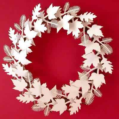 Cardboard Safari Laser Cut Wreath