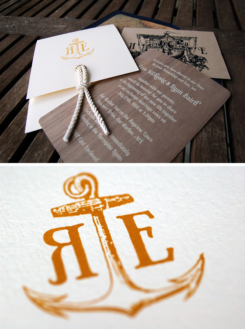10 Gorgeous Nautical Themed Wedding Invitations DuoParadigms – Nautical Theme Wedding Invitations