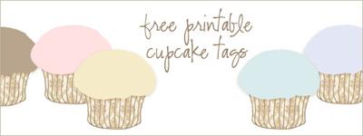 Printable Cupcake Tags