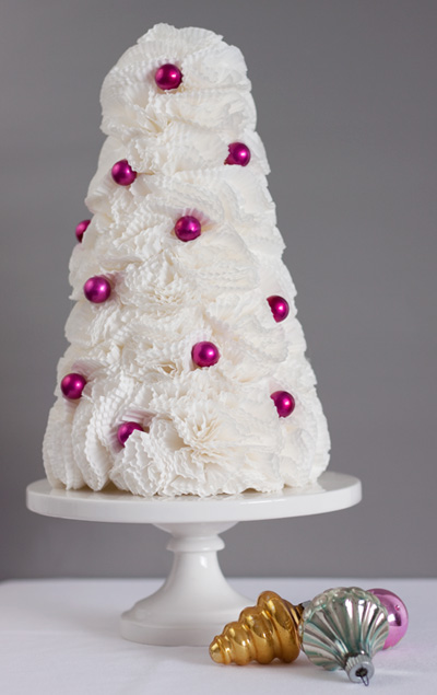 Cupcake Liner Flower Tree Christmas