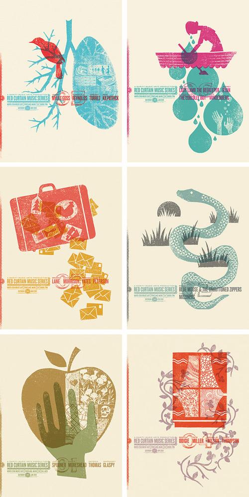 Dan Judge Red Curtain Music Series Posters