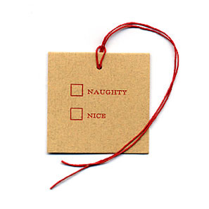 Dear Olive Naughty or Nice Gift Tag