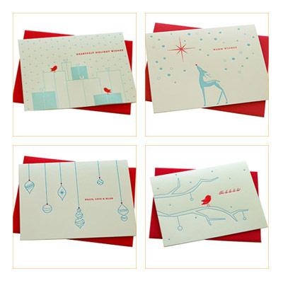a letterpress christmas deluce designs letterpress holiday cards - Letterpress Holiday Cards