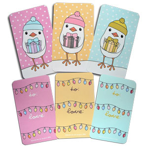 DeMarco Designs Christmas Tags Birds