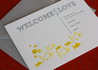 Dingbat Letterpress Invitations