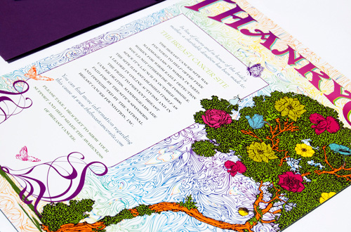Grateful Dead + Enchanted Forest Wedding Invitations