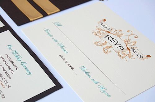 Flapper Peacock Wedding Invitations