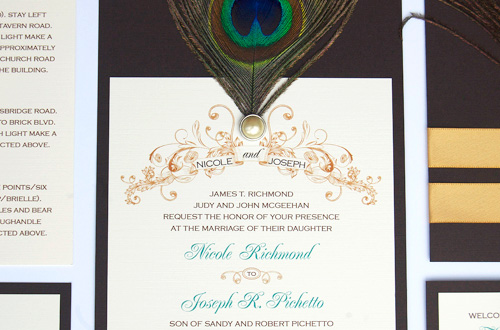 Peacock Wedding Invitations Template: Peacock Inspired Wedding Invitations From Dossie-a