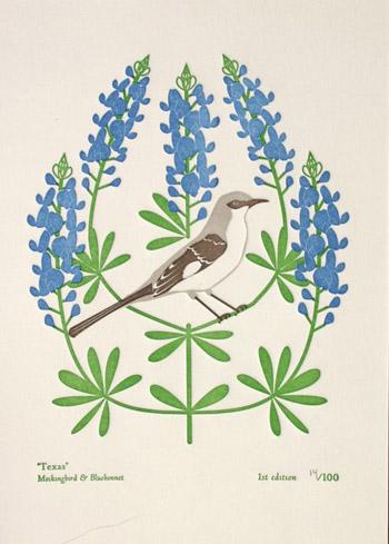 Dutch Door State Bird Letterpress