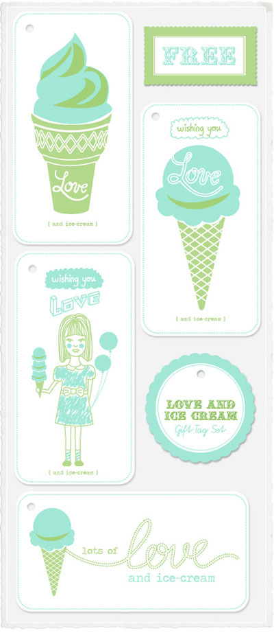 Printable Ice Cream Gift Tags