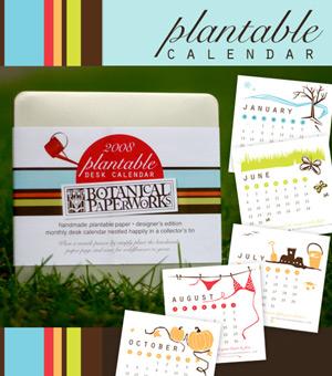 Botanical Paperworks Plantable Calendar