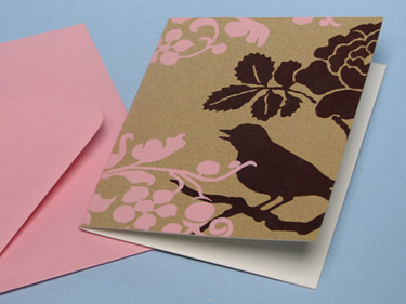 Earmark Pink Bird Cards