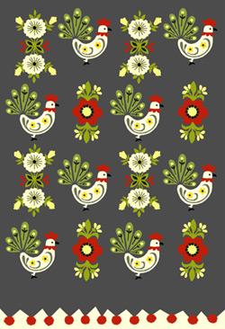 Treeo Design Pompom Chicken Gift Wrap