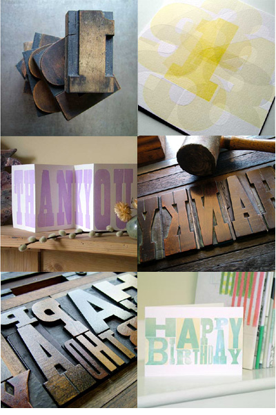 Typoretum UK Letterpress Cards