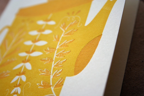 Letterpress Teapot Cards by Erin Wallace