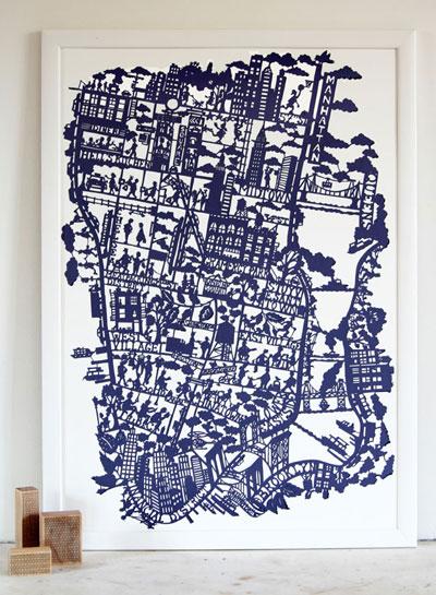 Famille Summerbelle Paper Cut Map