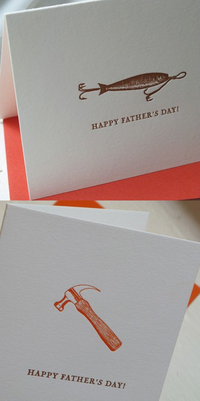 Paper Peony Father's Day Letterpress