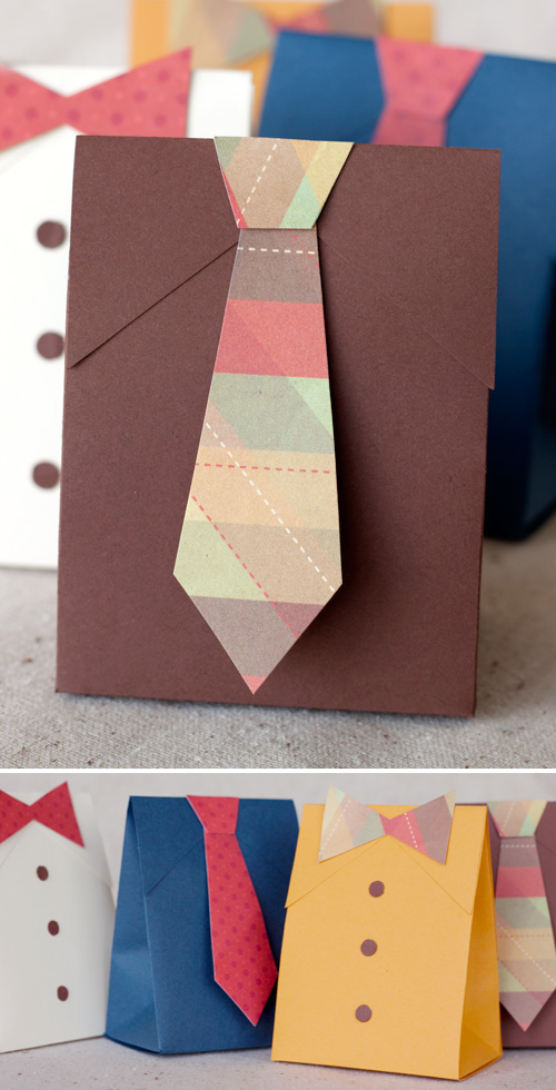 DIY Father's Day Shirt &#038; Tie Gift Boxes