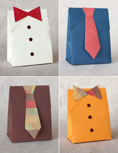 making cards: diy fathers day shirt &#038; tie gift boxes