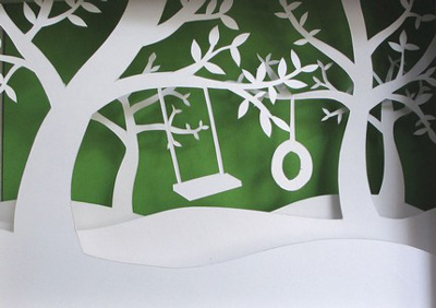 Fog and Thistle Papercut