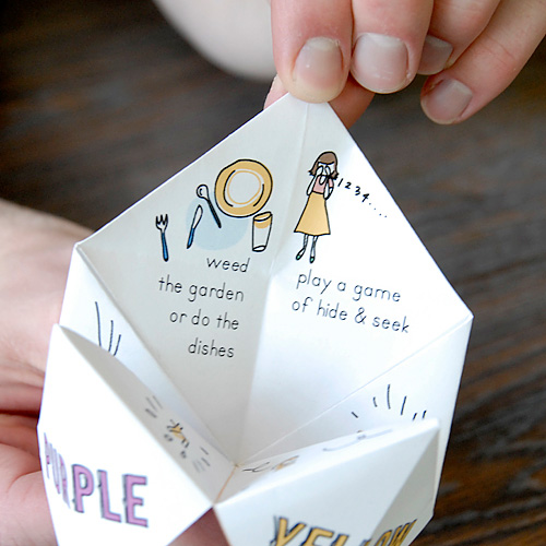Printable Summer Fortune Tellers IS*LY