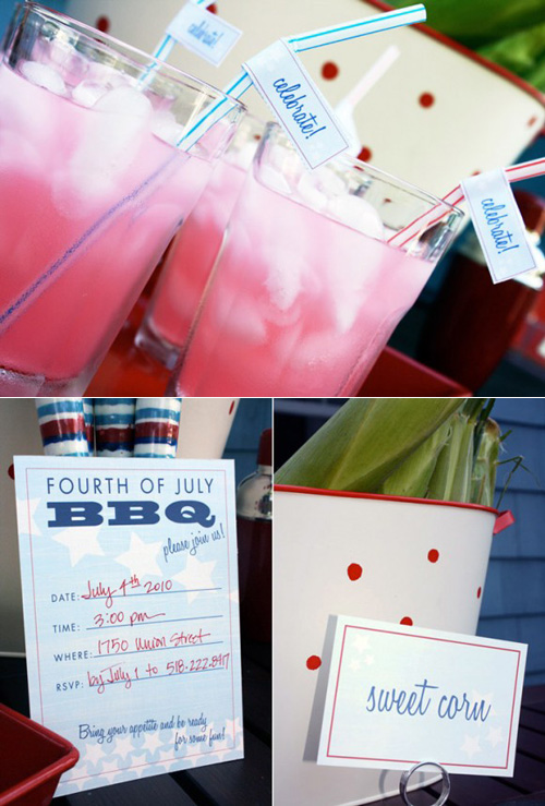 Fourth of July Party Printables The Pink Orange