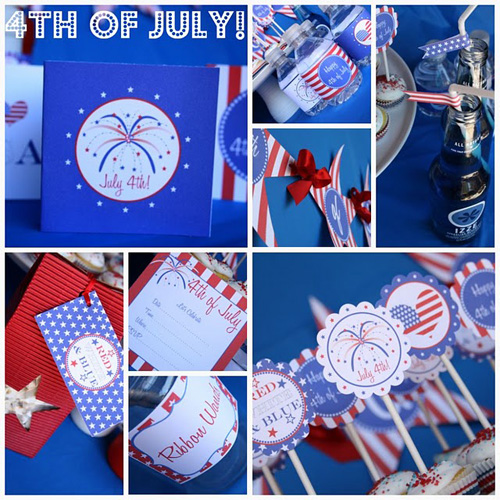 Tweedle Dee Fourth of July Party Printables