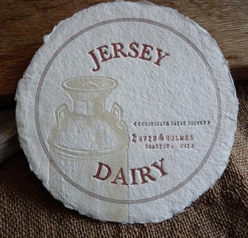 Fresh Heifers Letterpress Vintage Dairy Print