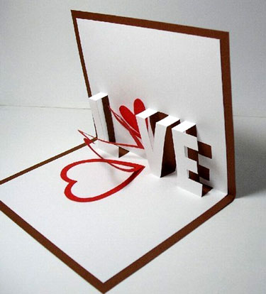 Cute Homemade Valentine Cards on Galinblack Pop Up Greeting Cards   Paper Crave