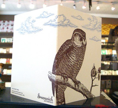 Greenwich Letterpress Owl Card