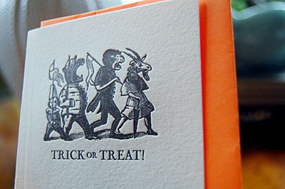 Letterpress Halloween Card