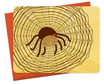 Sally Spider Halloween Card